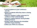 teacher tool mini lesson10