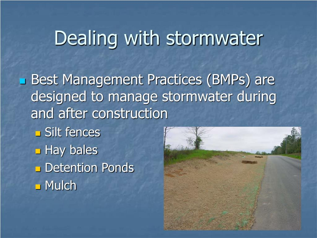 Dealing with stormwater