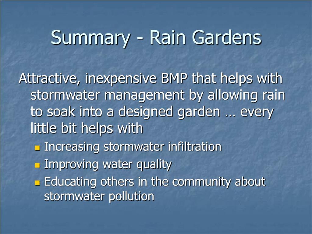 Summary - Rain Gardens