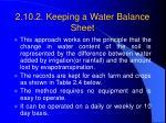 2 10 2 keeping a water balance sheet