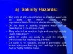 a salinity hazards