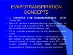 evapotranspiration concepts