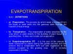 evapotranspiration