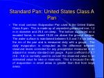 standard pan united states class a pan