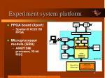 experiment system platform