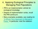 4 applying ecological principles to managing pest populations