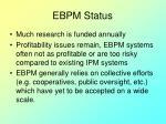 ebpm status