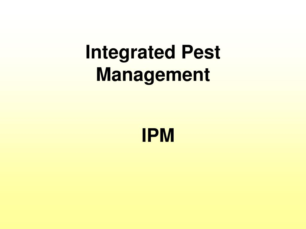 integrated pest management l.