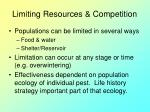 limiting resources competition
