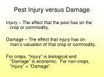 pest injury versus damage