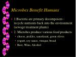 microbes benefit humans