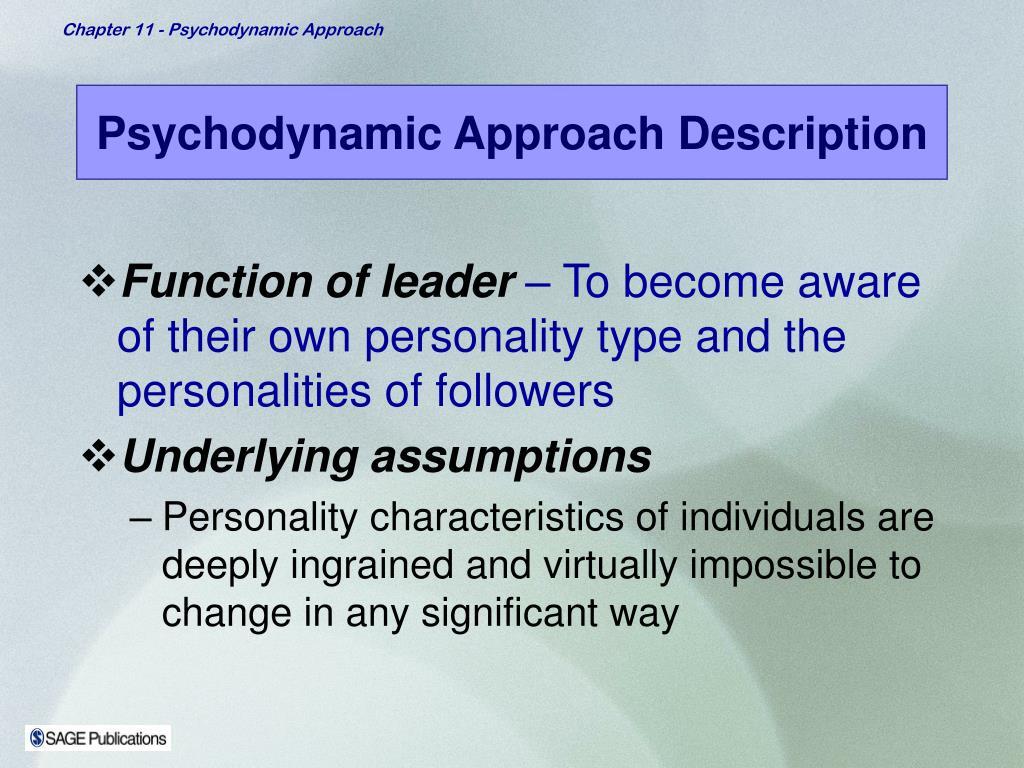 Psychodynamic Approach Description