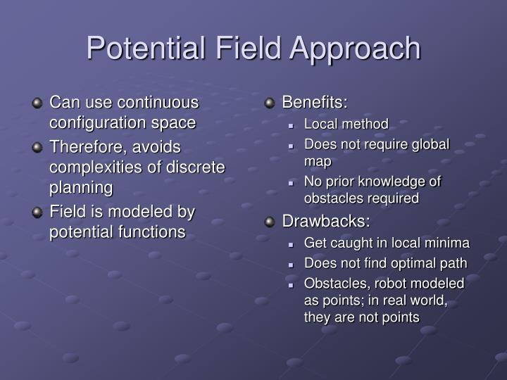 Potential field approach