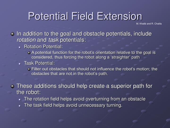 Potential Field Extension