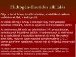 hidrog n fluoridos alkil l s
