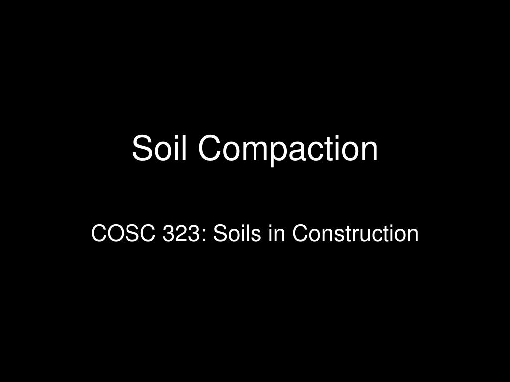 soil compaction l.