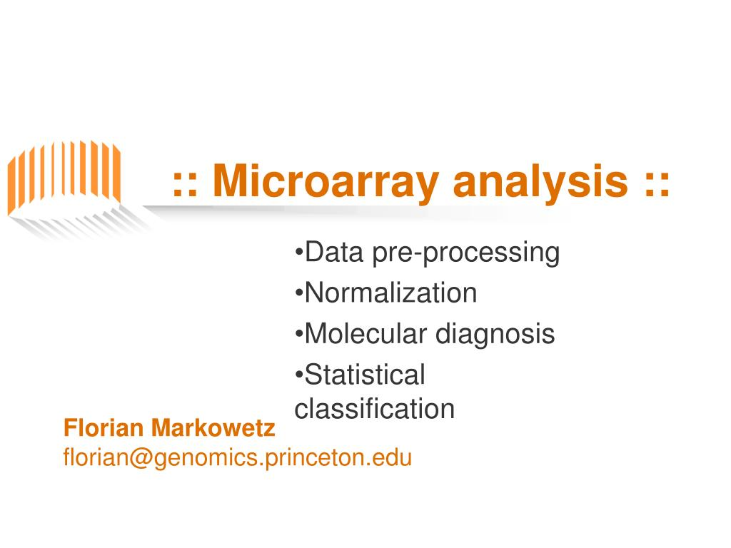 microarray analysis l.