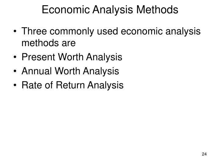 an analysis of the present rate of development Net present value, or npv, is one of the calculations business managers use to evaluate capital projects in capital budgeting analysis, the hurdle rate, or cost of capital, is the required rate of return at which investors agree to fund a project it can be a subjective figure and typically ends up as.