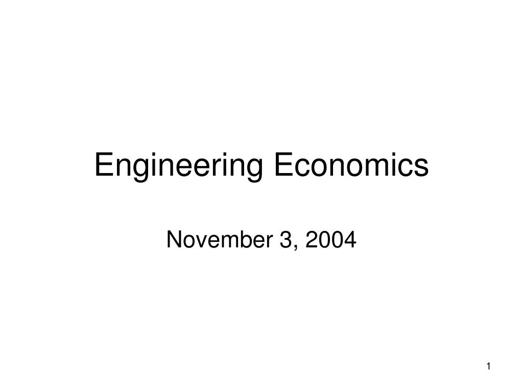 engineering economics l.