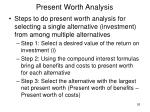 present worth analysis26