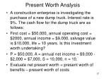 present worth analysis27