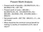 present worth analysis28