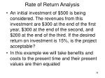 rate of return analysis34