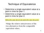 technique of equivalence