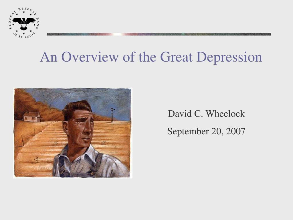 an overview of the great depression l.