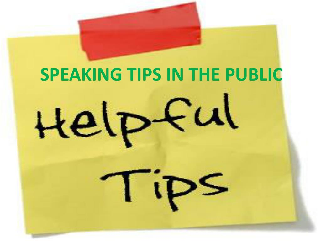 speaking tips in the public l.