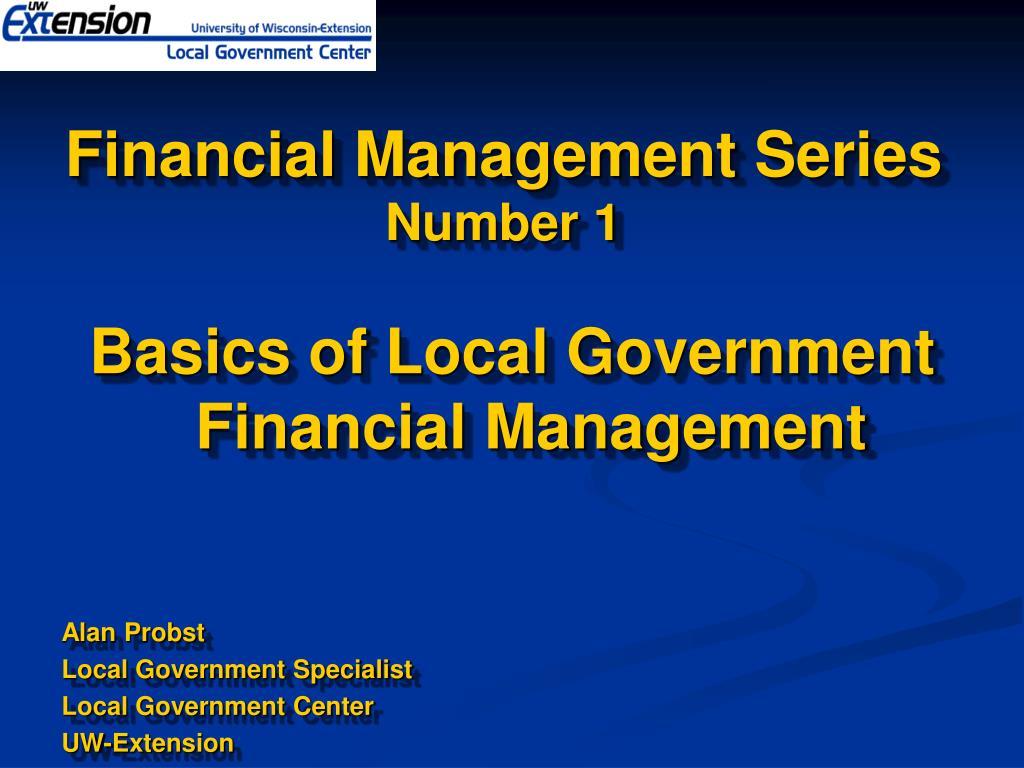 financial management series number 1 l.