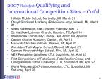 2007 robofest qualifying and international competition sites cnt d