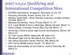 2007 robofest qualifying and international competition sites