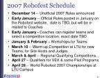 2007 robofest schedule