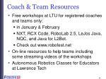coach team resources