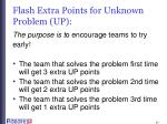 flash extra points for unknown problem up