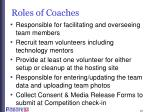 roles of coaches