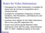 rules for video submission