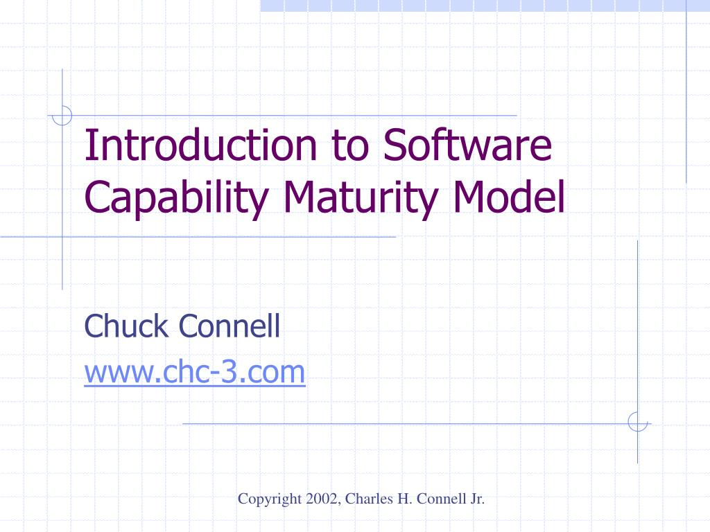 introduction to software capability maturity model l.