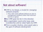 not about software