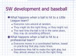 sw development and baseball