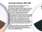 genocide in bosnia 1992 1995