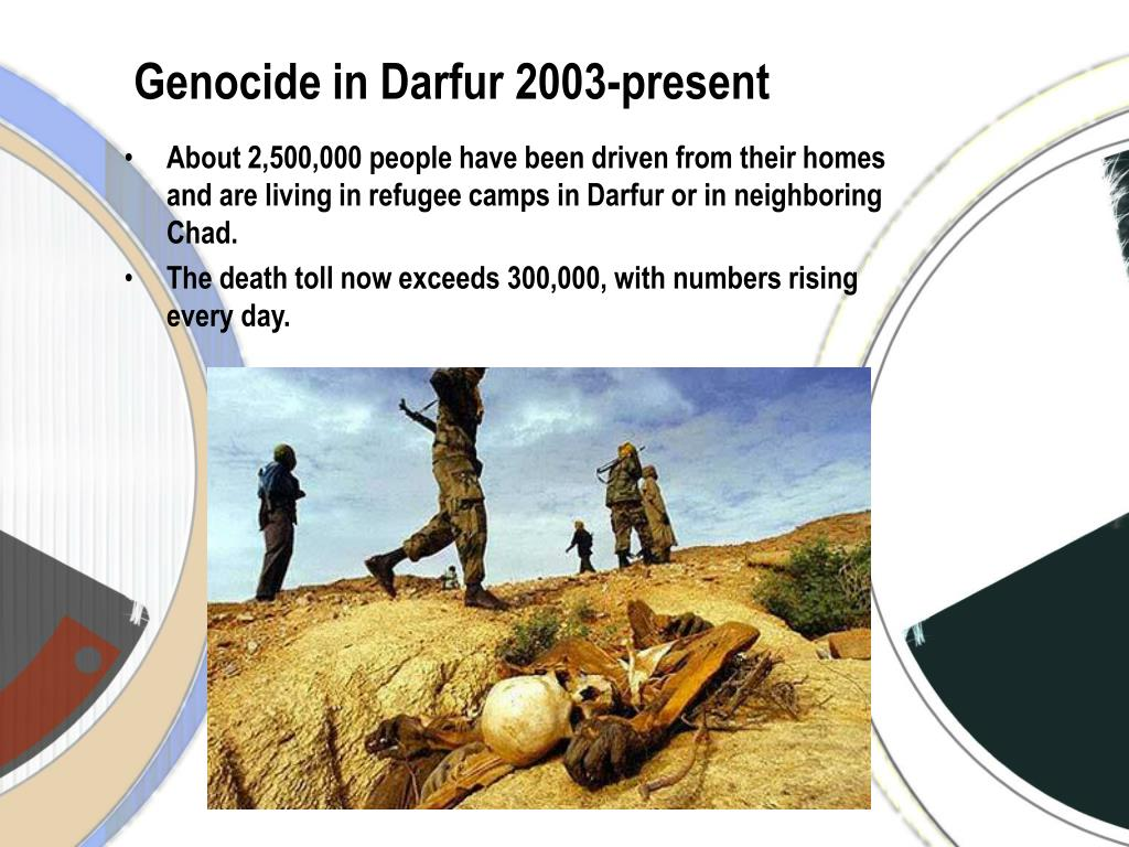 darfur genocide thesis Thesis statement rwandan genocide 1,071,000 people were killed in three months due to the genocide this genocide is considered as the conflict between the two.
