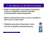1 key objectives of the basel convention