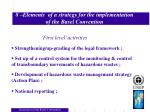 8 elements of a strategy for the implementation of the basel convention
