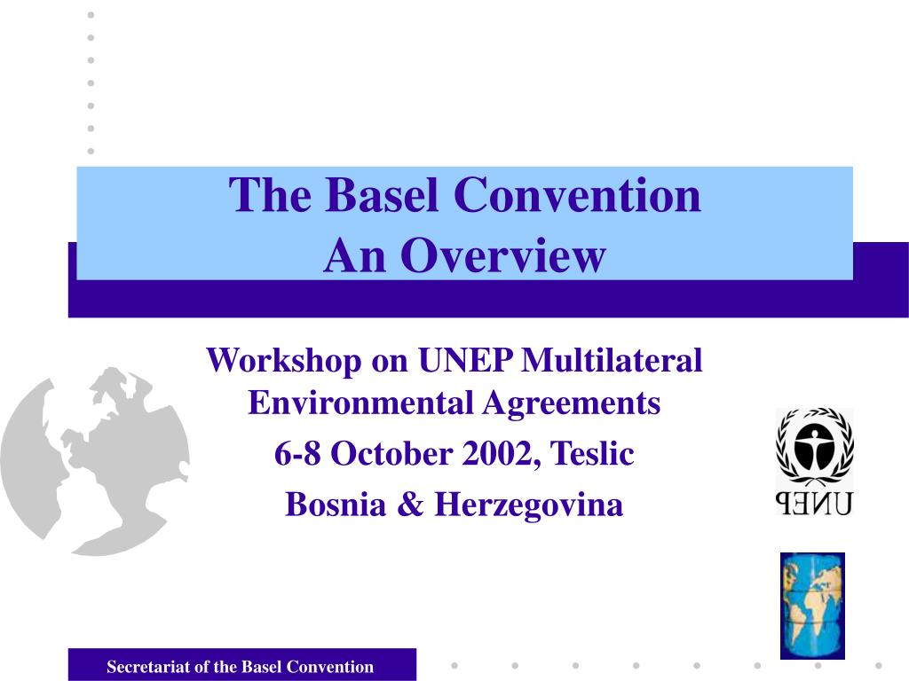 the basel convention an overview l.