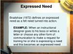 expressed need