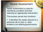 needs assessment10