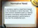 normative need