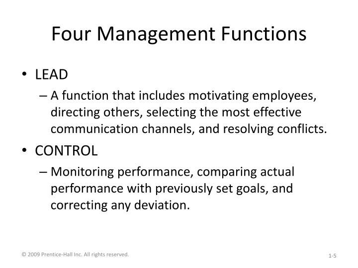 four functions of management essays